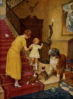 """Good Morning"" (c. 1925), by English artist - Arthur John Elsley (1860-1952), Oil on canvas."