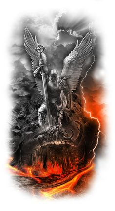 New Tattoo Designs Ideas Tatuajes Ideas Archangels, Body Art Tattoos, Warrior Tattoos, Tattoo Sleeve Designs, Custom Tattoo, Custom Tattoo Design, Archangel Tattoo, Tattoo Designs, Archangel Michael Tattoo