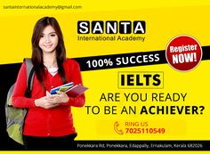 santa acadamy is one of the best IELTS coaching centre in Ernakulam Ielts Reading, Ielts Writing, Happy Employees, Data Collection, Kochi, Market Research, Chandigarh, Ad Design, Centre