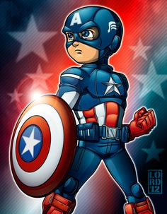 Lil Avengers - Captain America by lordmesa.deviantart.com on @deviantART