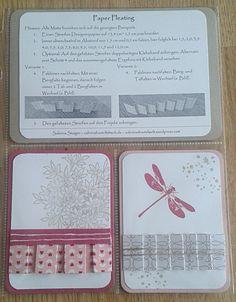 Heute zeige ich Euch die Paper Pleating Technik. Mit dieser Technik beteilige mich zum ersten Mal an einem (Stempel-)Technikbuch, das von vielen Stampin'-Up!-Demonstratoren zusammen gestaltet wird....