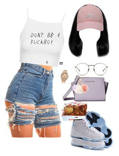 """"""""""" by yungjazzyhoe ❤ liked on Polyvore featuring Topshop, MICHAEL Michael Kors, adidas Golf, Juicy Couture, Linda Farrow and Charlotte Russe"""