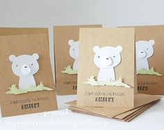 Animal Portraits, Cardmaking, Place Cards, Place Card Holders, Baby Shower, Simple, Cute, Diy, Cards