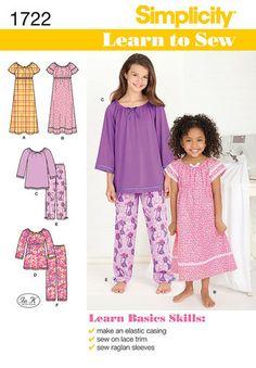 S1722 Girl's Loungewear | Learn to Sew