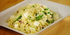 Lemon Orzo with Baby Spinach and Feta Recipe