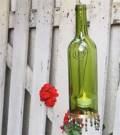Bing : Wine Bottle Crafts With Lights. Weinflasche  DekorationenWeinflaschenlaternenRecycelte ...
