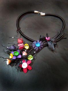 handmade silk cocoons jewelry - No89