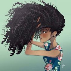 Image result for cartoon images of curly hair
