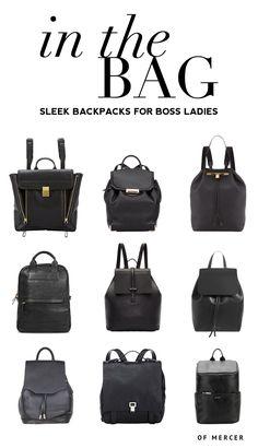 Sleek Backpacks for Professional Women | Of Mercer Blog