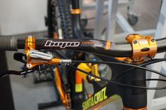 Hope Tech goes orange, shows new hubs, brakes, cassette and much more - Bikerumor Bmx Bicycle, Mtb Bike, Cycling Bikes, Riding Mountain, Mountain Biking, Mountain Bike Handlebars, Moutain Bike, E Mtb, Mountain Bike Frames