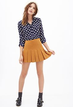 Just ordered both the polka dot blouse and the mustard skirt. So lovely! Excited to pair them with some tights, boots, and a beanie.