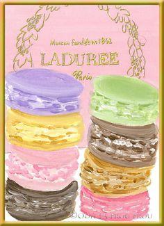 ❤‿❤ #laduree #macarons #paris