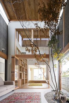 The Melt House In Osaka 2019 In a quiet residential area of Osaka SAI Architecture Design Office has constructed Melt a minimalist home with a corrugated exterior. The post The Melt House In Osaka 2019 appeared first on Architecture Decor. Interior Design Minimalist, Japanese Interior Design, Modern House Design, Home Interior Design, Interior Livingroom, Contemporary Interior, Tree Interior, Japan Interior, Contemporary Office