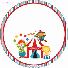 Charming Child: Circus Party Kit For Free Print Clown Party, Circus Theme Party, Carnival Birthday Parties, Circus Birthday, Birthday Party Themes, Party Kit, Baby Party, Decoration Cirque, Carnival Themes