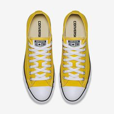 Converse Chuck Taylor All Star Low Top Unisex Shoe in gold/yellow in size women's 8