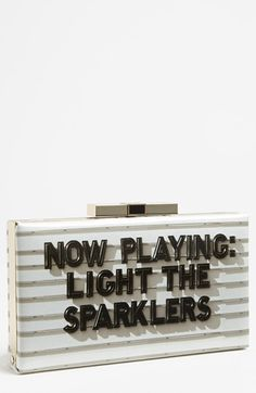 kate spade new york 'cinema city - samira' clutch available at #Nordstrom