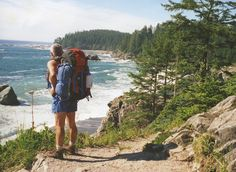 One of many lookout points along the West Coast Trail along the west side of Vancouver Island, British Columbia. Hikers come from around the world to accept this wilderness challenge.
