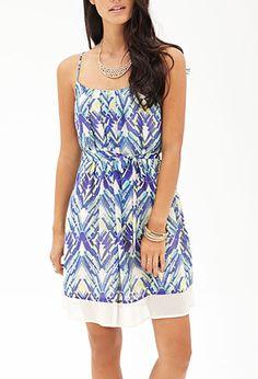 Abstract Brushstroke Cami Dress   FOREVER21 - 2000105046