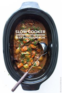 Gourmet from your slow cooker! Slow Cooker  Beef Bourguignon