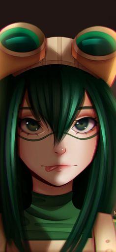My Hero Academia, Tsuyu Asui, niedlich, Anime Mädchen, 1125x2436 Wallpaper