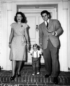 Eleanor Powell & Glenn Ford with son Peter