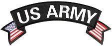 US Army Patch top Rocker US flag on sides for Vest Jacket 10 inch  #sturgismidwestinc
