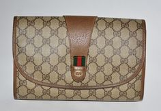 Gucci Leather Brown Clutch