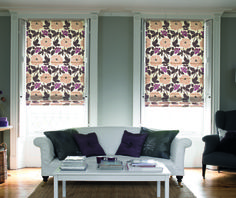 Dewberry Clover Roman Blind - From Living Room Blinds, Living Room Windows, Blinds For You, Blinds For Windows, Made To Measure Blinds, Roman Blinds, Shutters, Cornwall, Soft Fabrics