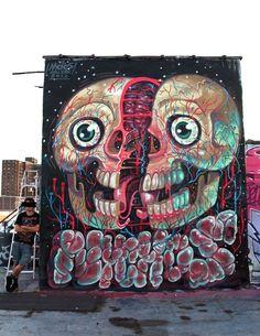 Mural by rabbit eye movement