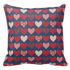 Chic Pillow or Cushion, Hearts on Midnight Blue => http://www.zazzle.com/chic_pillow_or_cushion_hearts_on_midnight_blue-189570384043060418?CMPN=addthis&lang=en&rf=238590879371532555&tc=pinHPchicheartpatternonmidnightbluepillow