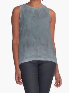 rippled reflections in grey contrast tanks by jmarielle redbubble