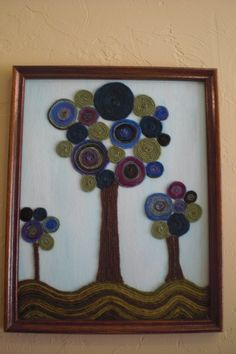 Yarn art - Rebecca Campbell - Now available on Etsy: https://www.etsy.com/listing/182054935/framed-yarn-art?ref=shop_home_active_2
