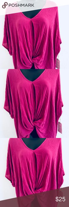 NWT Tie Front Wrap Top Very beautiful tie front wrap top True wrap style  Short sleeve  Gorgeous color leith Tops Blouses