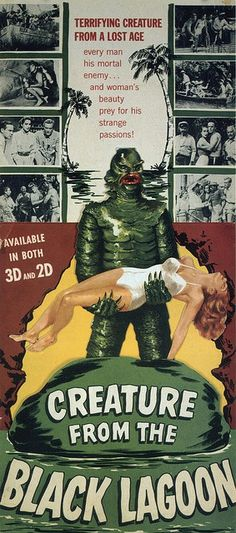 The #Creature from the Black Lagoon. #horror