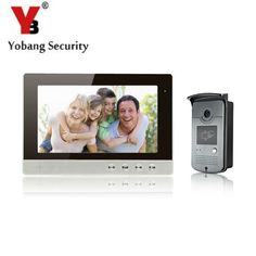 YobangSecurity Video Intercom Monitor 10-Inch LCD Video Doorbell Camera System with Rain Cover for House/Office/apartment/Hotel