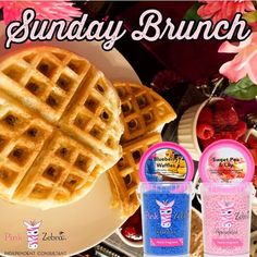 Blueberry Waffles, Sprinkles Recipe, Pink Zebra Sprinkles, Summer Scent, Scented Wax Melts, Sunday Brunch, Independent Consultant, Sweet, Recipies