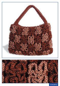 """wiggle stitch bag...pattern    """" MOSSITA BELLA PATRONES Y GRÁFICOS CROCHET """": Bolsos"""