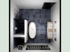 (De Eerste Kamer) Een inspirerende badkamer indeling! Meer foto's van onze badkamers vindt u op www.eerstekamerbadkamers.nl