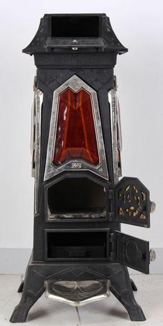 Secesní kamna King   Kamna a příslušenství   Starožitnosti - Galerie USTAR