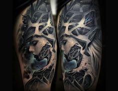 #Biomechanical #tattoos by Stepan Negur. http://illusion.scene360.com/art/70026/biomechanical-tattoos-stepan-negur/