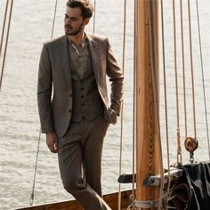 Formal Shirts For Men, Men Formal, Navy Trench Coat, Athletic Build, Tweed Suits, Checked Blazer, Fitted Suit, Donegal, Weekend Wear