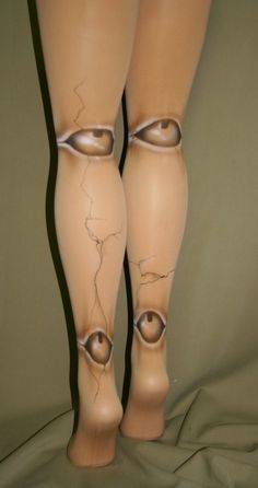 Broken old fashioned ball jointed doll tights by beadborg on Etsy