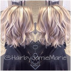"55 mentions J'aime, 14 commentaires - JamieMarie (@hairbyjamiemarie) sur Instagram : ""Shorter hair and added texture for my client! @kerala_m #hairbyjamiemarie #tanglestotoes"""