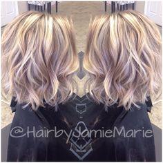 "Jamie🖤Marie στο Instagram: ""Shorter hair and added texture for my client! @kerala_m #hairbyjamiemarie #tanglestotoes"""