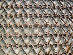 Cast Iron Doormat / Hearts / Wall Hanging by assemblage333 on Etsy, $325.00