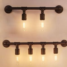 2016 Firewood Industrial Pipe Wall Lights Wall Iron Loft Cafe Retro Study…