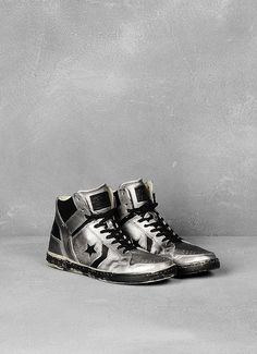 Converse by John Varvatos Metallic Finish Weapon High-Top -- I'd love a non-shiny version of this.