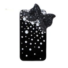Handmade hard case for iPhone 4 & 4S: Bling cute pink bow with crystals (custom are welcome). $19.99, via Etsy.