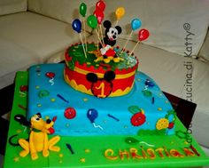 La buona cucina di Katty: Cake Mickey Mouse design and Pluto