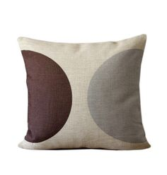 SUMMER SALE  Linen pillow with brown and gray by Ideccor on Etsy, $21.99